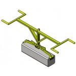 Pince pour bordures réglable pour prise dans la longueur - 150kg - usage intensif