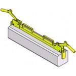 Pince pour bordures pour prise dans la longueur - 150kg - usage intensif