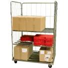 Roll conteneur équipé de 3 ridelles - 500 kg