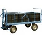 Remorque industrielle 1 essieu directeur - 1000 kg