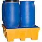 Bac de rétention en PEHD - 4 fûts 450 L