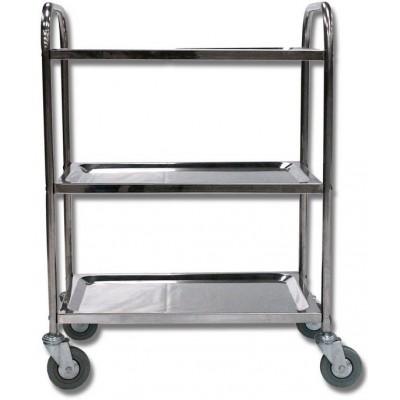 Table roulante en inox 100kg - Table roulante 3 plateaux ...