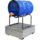 Bac de rétention en acier galvanisé - 1 fût 220 L