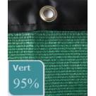 Filet brise-vue 95% occultation avec bande pvc