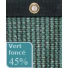 Filet brise-vue vert foncé 45% occultation - bande oeillet