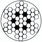 Câble galva PVC 7 torons de 7 fils