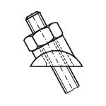 Déviation multiangles inox pour poteau plat