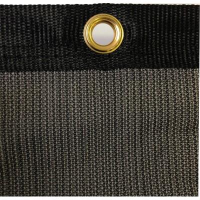 filet brise vent noir de 65 de filtration et bande pvc oeillets. Black Bedroom Furniture Sets. Home Design Ideas