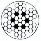 Cable galva recouvert de PVC