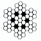Câble galvanisé noir 7x7 fils