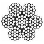 Câble noir galva 7 torons de 19 fils