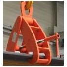 Pince de levage pour rails - 6500kg