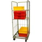 Roll conteneur équipé de 2 ridelles - 450 kg