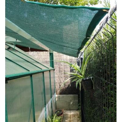 filet brise vue noir ou vert avec bande pvc oeillets. Black Bedroom Furniture Sets. Home Design Ideas