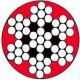 Câble galva PVC 7 torons de 7 fils rouge