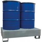 Bac de rétention en acier galvanisé - 2 fûts 220 L