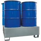 Bac de rétention en acier galvanisé - 4 fûts 440 L