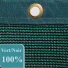 Filet brise-vue vert foncé 100% occultation