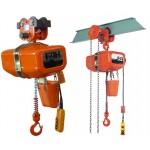 Palan électrique à usage industriel tri ou mono - 1 ou 2 vitesses - avec chariot à pousser ou à chaîne - 500 à 5000kg
