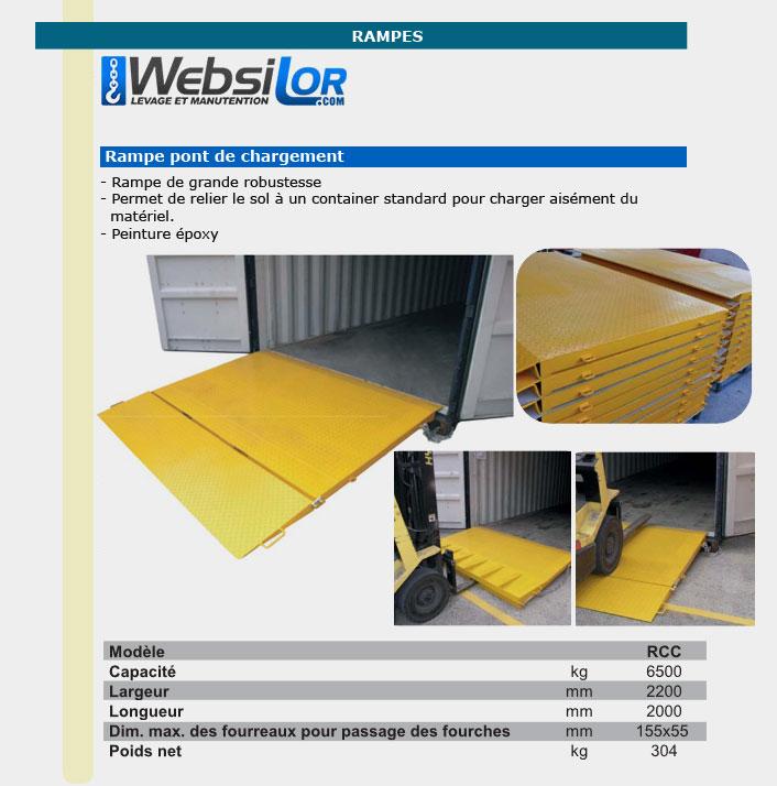 Informations techniques Pont de chargement à container
