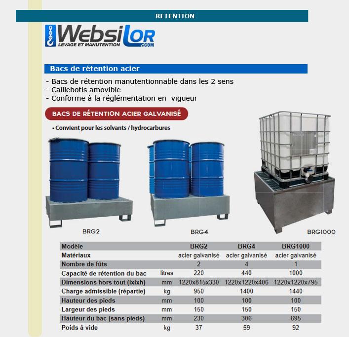 Informations techniques Bac 1 transicuve en acier galvanisé à chaud - 1000 L