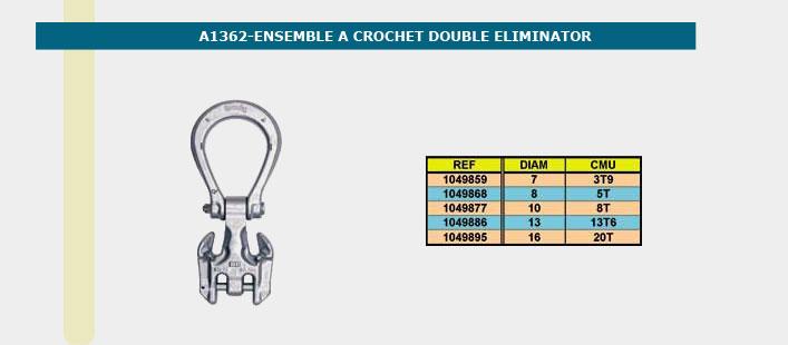 Informations techniques Ensemble à crochet - 7mm - 3,9 tonnes
