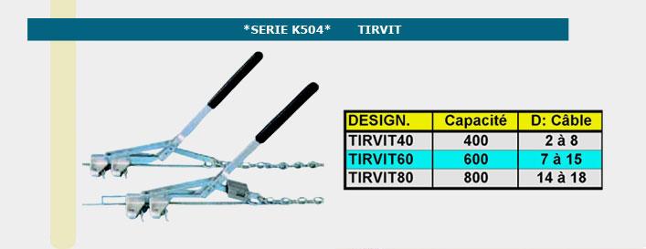 Informations techniques Tirvit tendeur - 400 à 800 kg