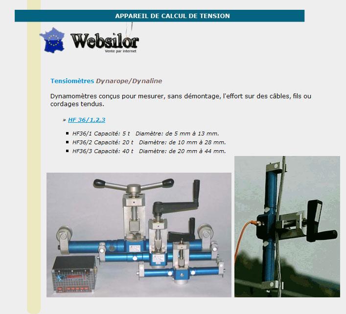 Informations techniques Appareil de calcul de tension - 5 à 13mm