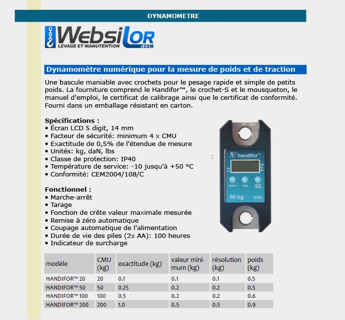 Informations techniques Mini peson électronique