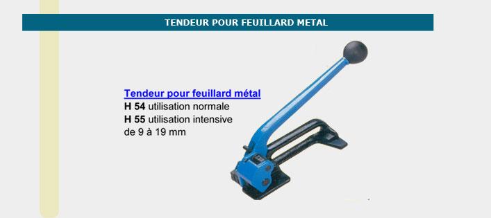 Informations techniques Tendeur pour feuillard métal