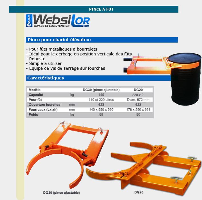 Informations techniques Manutention fûts acier - 220 kg x 2