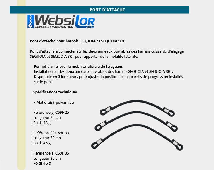 Informations technique de Pont d'attache - 25 à 35 cm