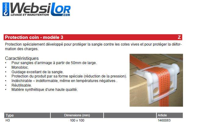 Informations techniques Protection pour sangle de 50 à 100 mm
