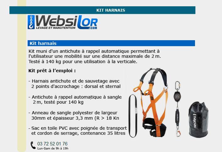 Informations techniques Kit harnais bâtiment