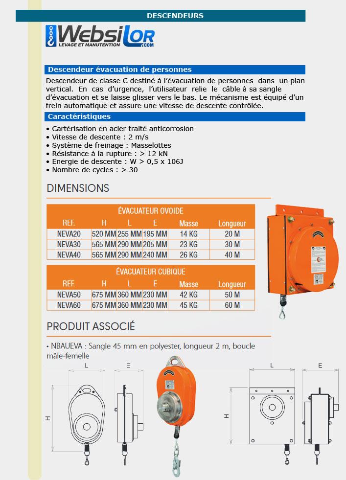 Informations techniques Descenseur automatique