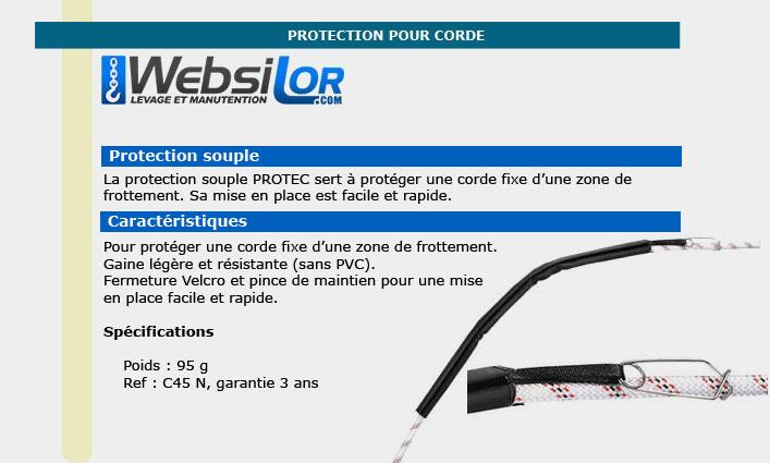 Informations techniques Protections cordes - 56 cm