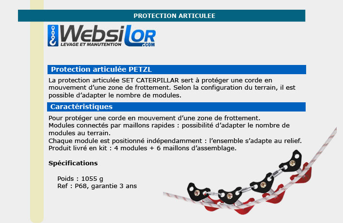 Informations techniques Protections cordes - modules et maillons