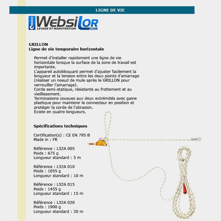 Informations techniques Longes réglables - 5 à 20 mètres