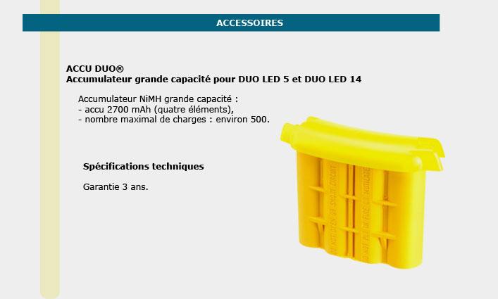 Informations techniques Accumulateur grande capacité