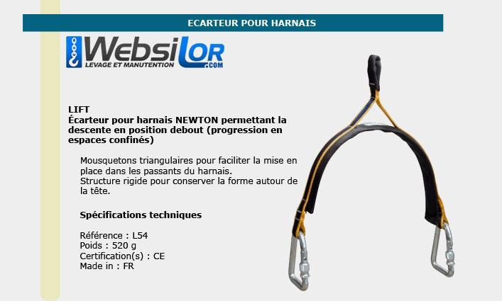 Informations techniques Ecarteur pour harnais Newton