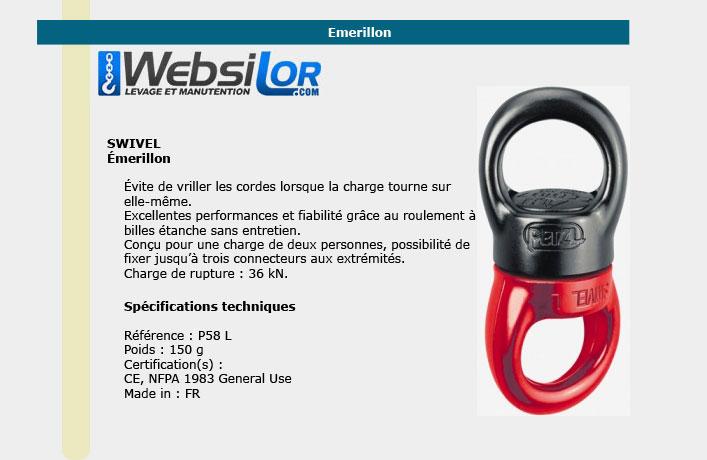 Informations technique de Emerillon swivel 36 Kn