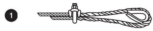 fabrication d'une boucle en câble avec serre-câbles